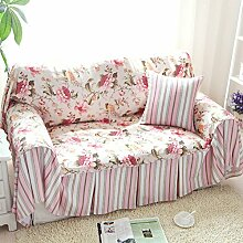 WDBS Europäischen Garten Baumwolle Leinwand Deckglas Sofa Handtuch sandigen Haar Sofa umfasst Stoff , 180*300cm