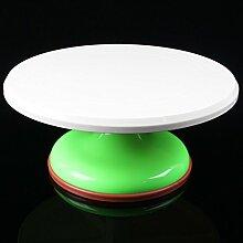 WDBS Farbige Kunststoff PVC Kuchen Kuchen dekorieren Turntable Plattenspieler/montiert/Blume Bett/Backen Werkzeuge , 3