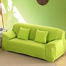 WDBS Felder Rutschen Tuch Sofakissen Slipcover Sofa Handtuch Joker Sofa Handtuch , green , 3seater