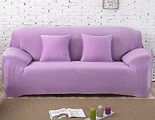 WDBS Felder Rutschen Tuch Sofakissen Slipcover Sofa Handtuch Joker Sofa Handtuch , purple , 2seater