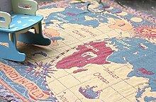WDBS Karte von Welt Baumwolle Thread Decke Wandteppich Sofa Handtuch/Decke viel von einer Decke , 180*220cm
