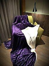 WDBS Lazy Nachmittag Decke Doppel-Sofa Decke Decke , 4