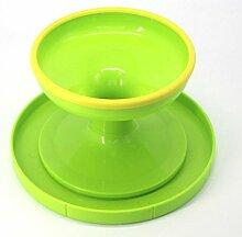 WDBS Werkzeuge/Plattenspieler/Plattenspieler/Kuchen Dekoration Kuchen Kuchen Blumenbeet Montage Plattform mit Slip Ring Backen , green turntable