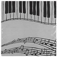 WDDHOME Holiday Servietten Abstrakte Klaviermusik