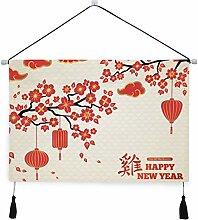 WDDHOME Wandkunst Küche Dekor Bunte chinesische