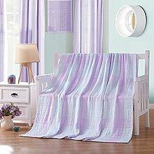 Wddwarmhome Baumwolle Material Warme Decke Lässige Decke Büro Nickerchen Decke Vier Jahreszeiten Verfügbare Größe: 180 * 200 cm Wolldecke ( Farbe : Gelb )