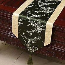 Wddwarmhome Beige Grün Klassische Retro Muster Tischläufer Tischdecke Couchtisch Stoff Bett Flagge Schrank Flagge Tischplatte Lange Tischdecke (nur Verkauf Tischläufer) 33 * 300cm