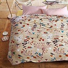 Wddwarmhome Beige warme Decke Winter Schlafzimmer Bettlaken Four Seasons Casual Decke Wolldecke ( größe : 200*230cm )