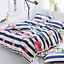 Wddwarmhome Blau Warme Decke Schlafzimmer Bettdecke Decke Wohnzimmer Freizeitdecke Polyester Material Wolldecke ( größe : 200*230cm )