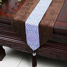 Wddwarmhome Couchtisch Läufer Klassische einfache Tisch Tischdecke Couchtisch Tuch (nur Verkauf Tischläufer) 33 * 150cm