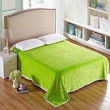 Wddwarmhome Einfarbig Geschnitzte Warme Decken Winter Bett Decken Vier Jahreszeiten Freizeit Decken Weich Und Bequem Wolldecke ( Farbe : Grün , größe : 150*200cm )