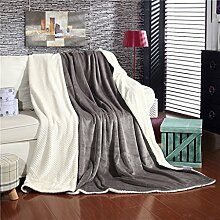 Wddwarmhome Einfarbig Warme Decke Schlafzimmer
