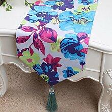 Wddwarmhome Farbtisch Läufer Mode Einfach Tisch Tisch Tisch Wohnzimmer Couchtisch Stoff Bett Flagge (nur Verkauf Tischläufer) 33 * 200cm