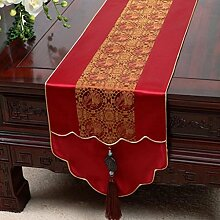 Wddwarmhome Fuchsia Tischläufer Jacquard Tisch Tischdecke Wohnzimmer Couchtisch Tuch Tisch Matte (nur Verkauf Tischläufer) 33 * 200cm
