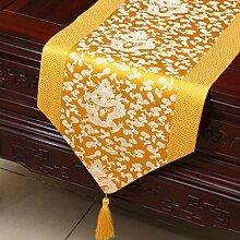 Wddwarmhome Gelb Tischläufer Einfache Pastoral Couchtisch Tuch Tisch Matte Klassische Lange Tisch Tuch (nur Verkauf Tischläufer) 33 * 300cm