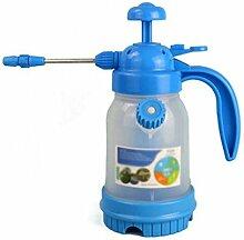 Wddwarmhome Gießkanne Blau 1.8L Kunststoff Home Spray Flasche Spray Flasche Gießkanne Gartenarbeit Blume Bewässerung Transparen