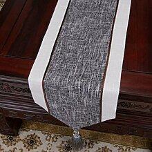 Wddwarmhome Grau Einfache moderne Tischläufer Wohnzimmer Retro Klassische Tischdecke Couchtisch Tuch Tisch Matte Bett Flagge (nur Verkauf Tischläufer) 33 * 230cm
