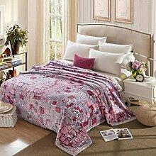 Wddwarmhome Grau warme Decke Polyester Material Schlafzimmer Bett Decke vier Jahreszeiten Freizeit Decke Wolldecke ( größe : 200*230 cm )