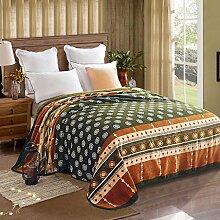 Wddwarmhome Grün Warme Decke Schlafzimmer Bettdecke Decke Wohnzimmer Freizeit Decke Polyester Material Studentische Schlafsaal Decke Wolldecke ( größe : 150*200cm )