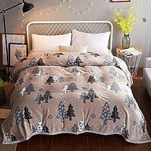 Wddwarmhome Hellbraune warme Decke Polyester Material Schlafzimmer Bett Decke vier Jahreszeiten Freizeit Decke Wolldecke ( größe : 150*200 cm )