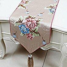 Wddwarmhome Hellrosa Blumenmuster Tischläufer Einfache Mode Tischdecke Couchtisch Stoff Bett Flagge Schrank Flagge Tischplatte Lange Tischdecke (nur Verkauf Tischläufer) 33 * 180cm