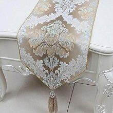 Wddwarmhome Khaki Blumenmuster Tischläufer Einfache Mode Tischdecke Couchtisch Stoff Bett Flagge Schrank Flagge Tischplatte Lange Tischdecke (nur Verkauf Tischläufer) 33 * 150cm