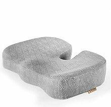 Wddwarmhome Kissen Grau Büro Stuhl Gedächtnis Baumwolle Dicker Stuhl Kissen Größe: 45 * 35cm