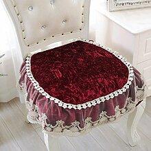 Wddwarmhome Kissen Red Anti-Rutsch-Gewebe Plüsch vier Jahreszeiten einfarbig Spitze Spitze Kissen Kissen Ess-Kissen Stuhl Matte Größe: 40 * 40cm