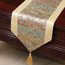 Wddwarmhome Licht Gelb Tischläufer Einfache Art Couchtisch Tuch Tisch Matte Klassische Lange Tisch Tuch (nur Verkauf Tischläufer) 33 * 200cm