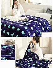 Wddwarmhome Lila Einschichtige Warme Decke Raschel Decke Bettdecke Decke Wohnzimmer Freizeitdecke Polyester Material Wolldecke ( größe : 180*200cm )