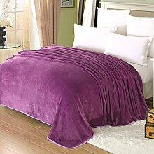 Wddwarmhome Lila Sommer Decke Freizeit Nap Decke Wohnzimmer Klimaanlage Decke Winter Blätter Komfortabel und Warm Wolldecke ( größe : 180*200cm )