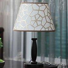 Wddwarmhome Massivholz kreative Schlafzimmer Dekoration Tischlampe, E27