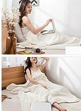 Wddwarmhome Nordic Casual Baumwolle Strickdecken Winter Warme Decken Nap Blanket Wohnzimmer Blank Decken Wolldecke ( Farbe : Weiß )