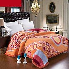Wddwarmhome Orange warme Decke Schlafzimmer