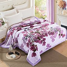 Wddwarmhome Purple Blanket Polyester Material