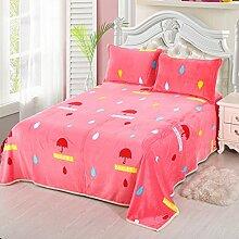 Wddwarmhome Rosa Decke Leisure Blanket Umbrella Pattern Büro Nickerchen Decke Weich und bequem Wolldecke ( größe : 150*220cm )