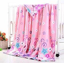 Wddwarmhome Rosa decken Polyester materielle Büro-Abdeckungs-Teppich-vier Jahreszeit-vorhandene weiche und bequeme Wolldecke ( größe : 150*200cm )