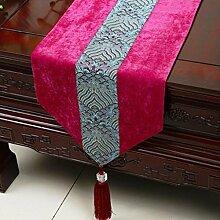 Wddwarmhome Rose Red Tischläufer Klassische Einfache Tisch Tischdecke Couchtisch Tuch (nur Verkauf Tischläufer) 33 * 230cm