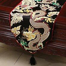 Wddwarmhome Schwarz Tischläufer Klassische Tisch Tischdecke Modern Wohnzimmer Couchtisch Stoff Bett Flagge (nur Verkauf Tischläufer) 33 * 300cm