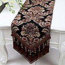 Wddwarmhome Schwarz Tischläufer Mode Einfach Tisch Tisch Tisch Wohnzimmer Couchtisch Tuch (nur Verkauf Tischläufer) 33 * 230cm