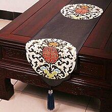 Wddwarmhome Schwarze Tischläufer Einfache Mode Tischdecke Couchtisch Stoff Bett Flagge (nur Verkauf Tischläufer) 33 * 180cm