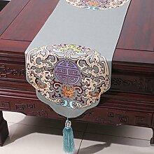 Wddwarmhome Sky Blue Tischläufer Einfache Mode Tischdecke Couchtisch Stoff Bett Flagge (nur Verkauf Tischläufer) 33 * 230cm