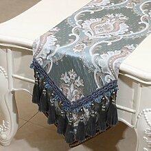 Wddwarmhome Sky Blue Tischläufer Mode Einfach Tisch Tisch Tisch Wohnzimmer Couchtisch Tuch (nur Verkauf Tischläufer) 33 * 230cm