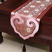 Wddwarmhome Tischläufer Klassische Stickerei Moderne einfache Tisch Tischdecke Couchtisch Tuch (nur Verkauf Tischläufer) 35 * 300cm