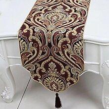 Wddwarmhome Tischläufer Mode Einfach Tisch Tisch Tisch Wohnzimmer Couchtisch Stoff Bett Flagge (nur Verkauf Tischläufer) 33 * 230cm