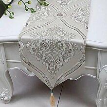 Wddwarmhome Tischläufer Mode Einfache Tisch Tischdecke Wohnzimmer Couchtisch Stoff Bett Flagge (nur Verkauf Tischläufer) 33 * 180cm