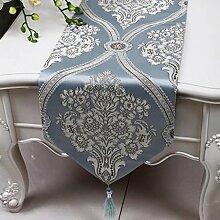 Wddwarmhome Tischläufer Mode Einfache Tisch Tischdecke Wohnzimmer Couchtisch Stoff Bett Flagge (nur Verkauf Tischläufer) 33 * 150cm