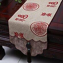 Wddwarmhome Tischläufer Stickerei Tuch Tischdecke Couchtisch Stoff Bett Flagge Tisch Matte (nur Verkauf Tischläufer) 33 * 230cm