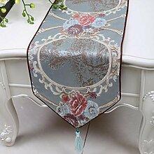 Wddwarmhome Tischläufer Stylish Minimalist Tisch Tischdecke Wohnzimmer Couchtisch Tuch Tisch Matte (nur Verkauf Tischläufer) 33 * 300cm