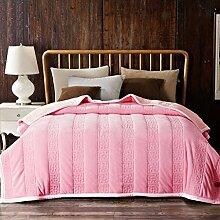 Wddwarmhome Vier Jahreszeiten Warme Decken Rose Rot Rosa Wohnzimmer Sofa Decke Schlafzimmer Bettdecke Weiche Und Komfortable Einfarbig Decke Wolldecke ( Farbe : Pink , größe : 200*230cm )